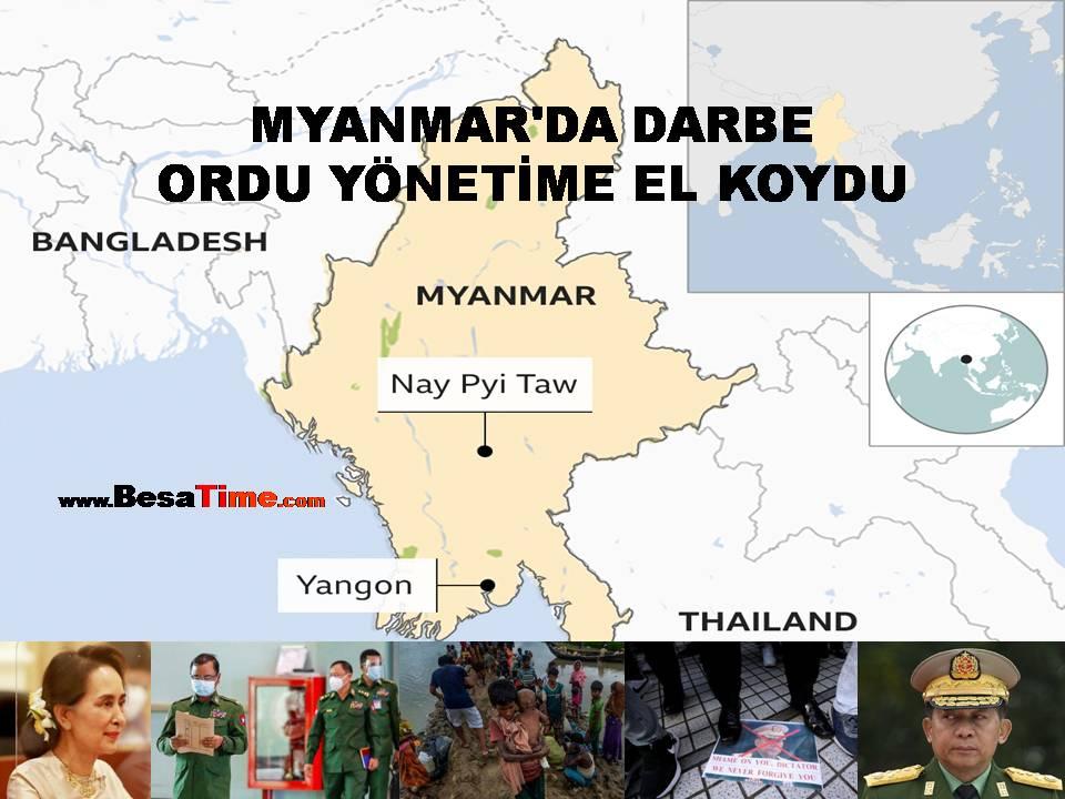 MYANMAR'DA DARBE, ORDU YÖNETİME EL KOYDU